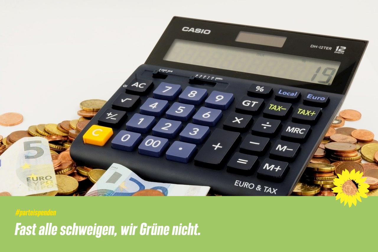 GRÜNE legen Parteispenden offen / CDU, SPD, FDP und AfD schweigen dazu